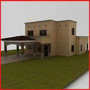 small Latin Hacienda Modern villa Santa Fe 3d model