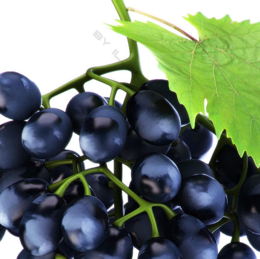 Grapes black royalty-free 3d model - Preview no. 4