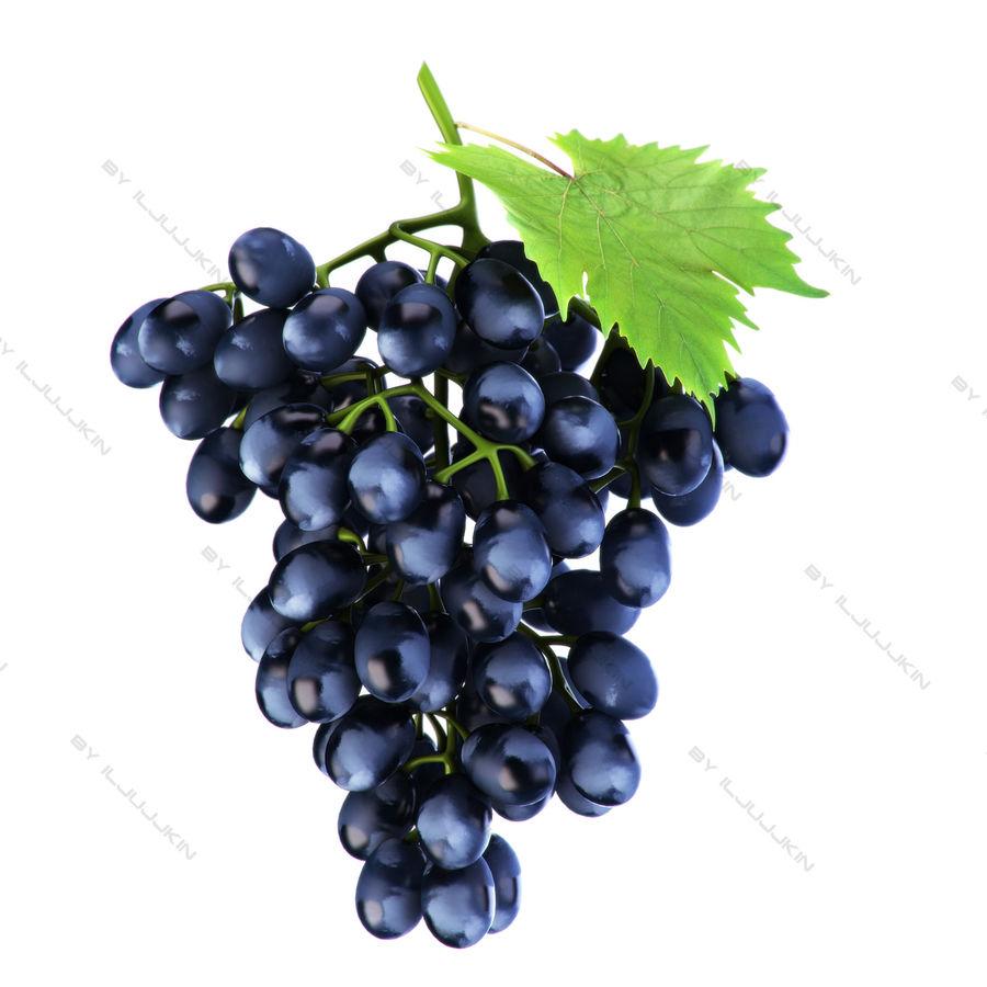 Grapes black royalty-free 3d model - Preview no. 2