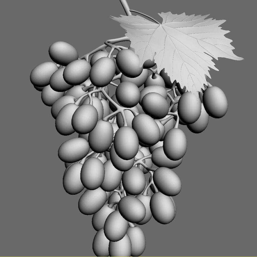 Grapes black royalty-free 3d model - Preview no. 6