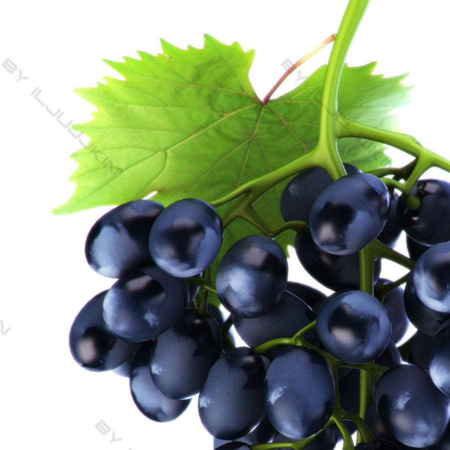 Grapes black royalty-free 3d model - Preview no. 3