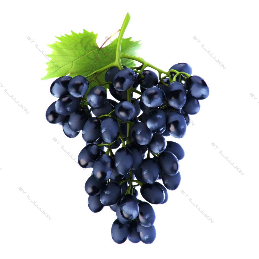 Grapes black royalty-free 3d model - Preview no. 1