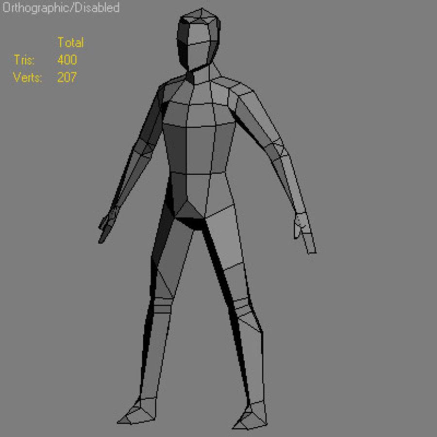 Homem Low Poly royalty-free 3d model - Preview no. 1