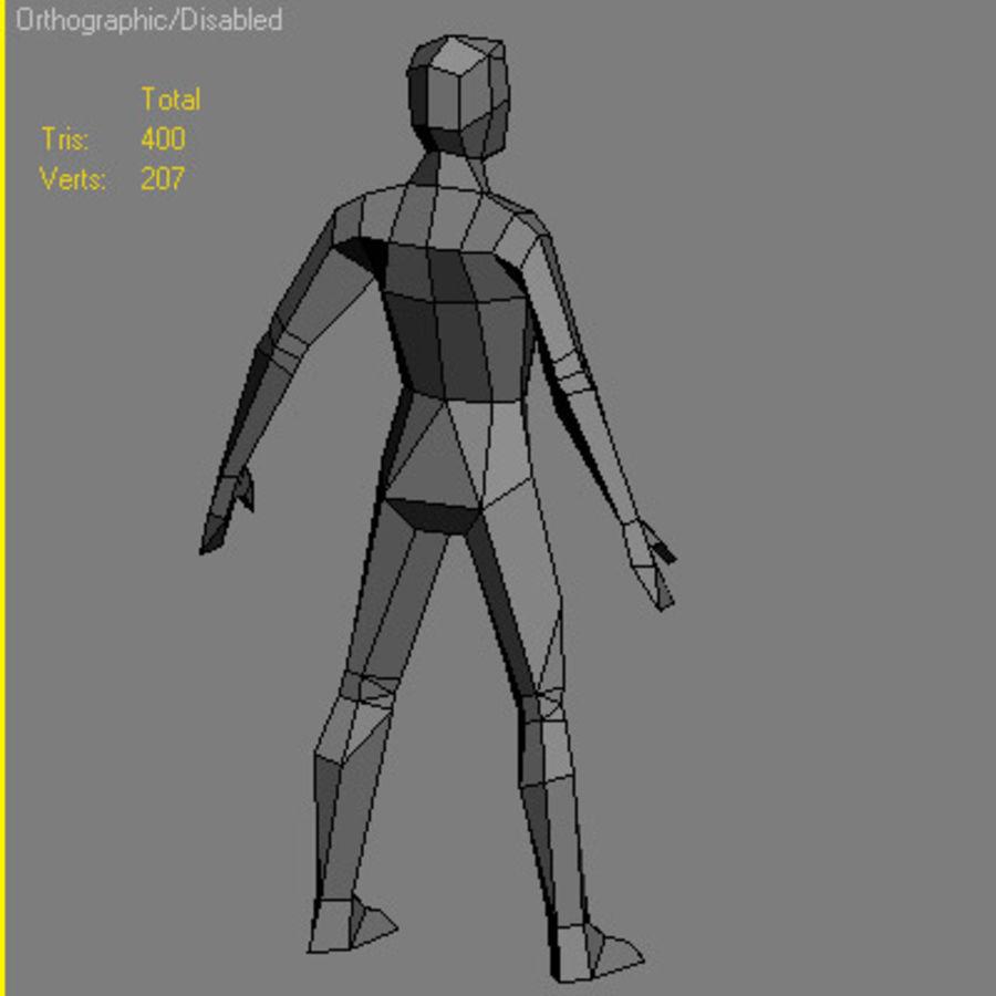 Homem Low Poly royalty-free 3d model - Preview no. 2