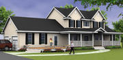 Tan House 3d model