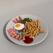 Comida modelo 3d