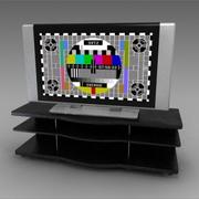 TV and bench 3d model