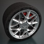 Sport Wheel - Rim and Tire 3d model