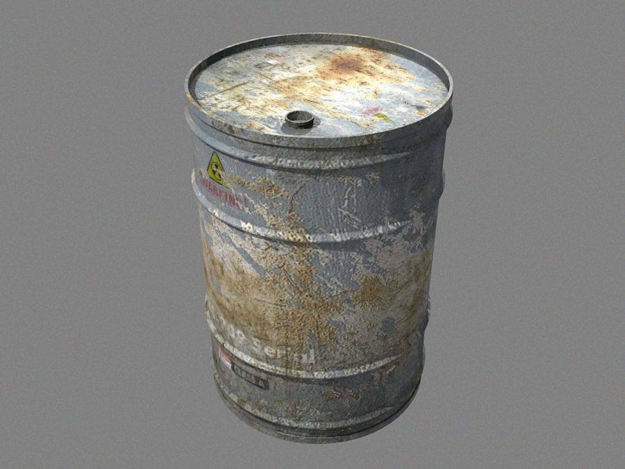 Radioactive Barrel royalty-free 3d model - Preview no. 2