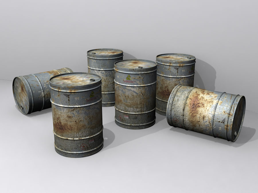 Radioactive Barrel royalty-free 3d model - Preview no. 1