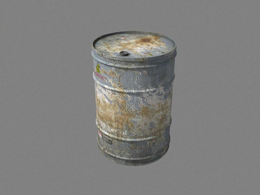 Radioactive Barrel royalty-free 3d model - Preview no. 3