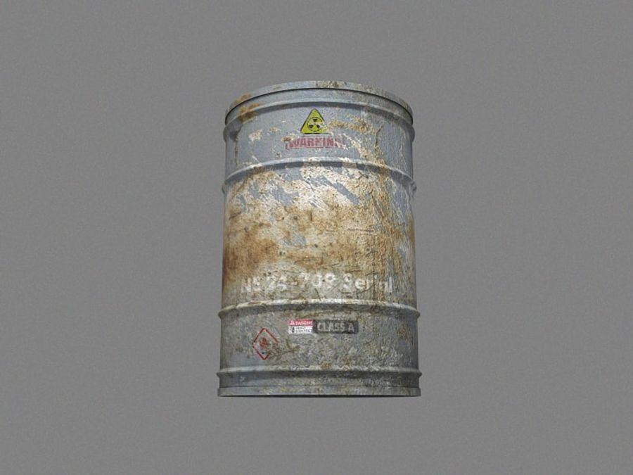 Radioactive Barrel royalty-free 3d model - Preview no. 4
