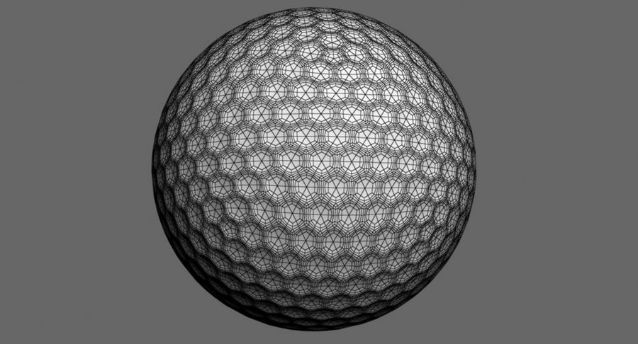 Golfball royalty-free 3d model - Preview no. 11
