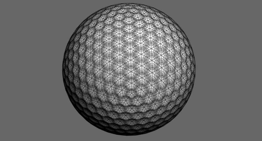Golfball royalty-free 3d model - Preview no. 9