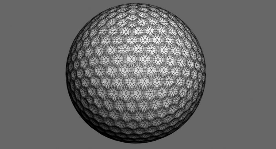 Golfball royalty-free 3d model - Preview no. 10