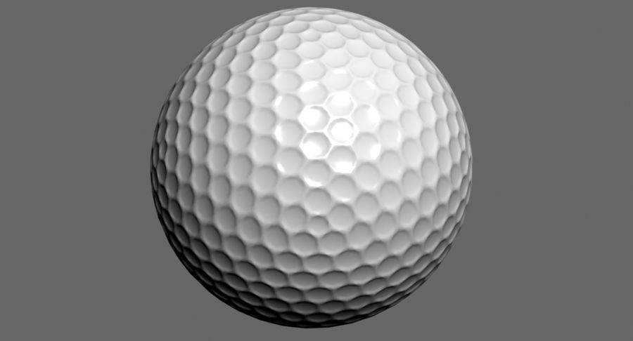 Golfball royalty-free 3d model - Preview no. 3