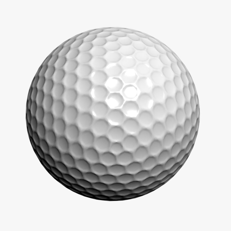 Golfball royalty-free 3d model - Preview no. 1
