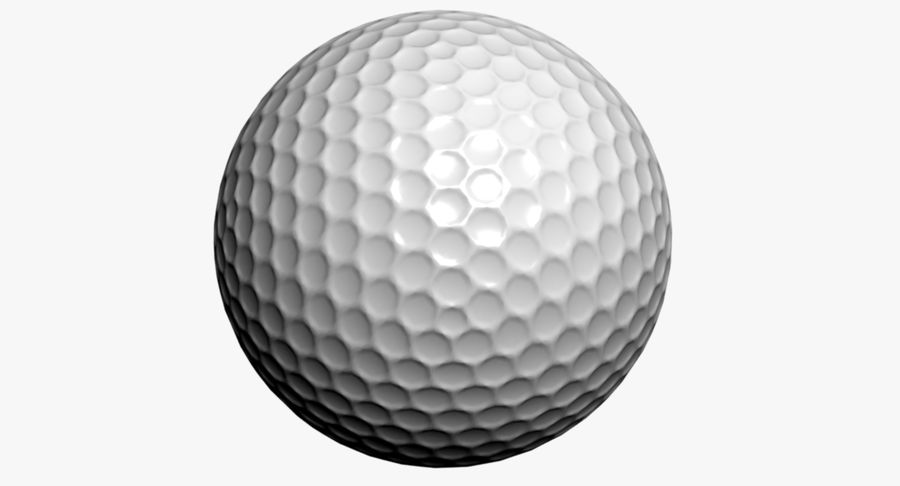Golfball royalty-free 3d model - Preview no. 2