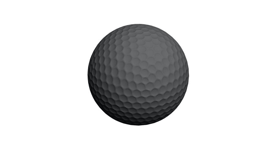 Golfball royalty-free 3d model - Preview no. 13