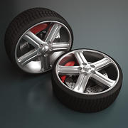 Tuning Wheel - Rim e Tyre 3d model