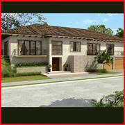 Latin Hacienda Vila 2 Level 3d model