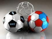 3 soccer balls 3d model
