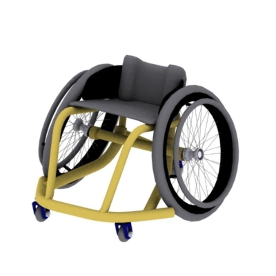 спорт на колясках royalty-free 3d model - Preview no. 1