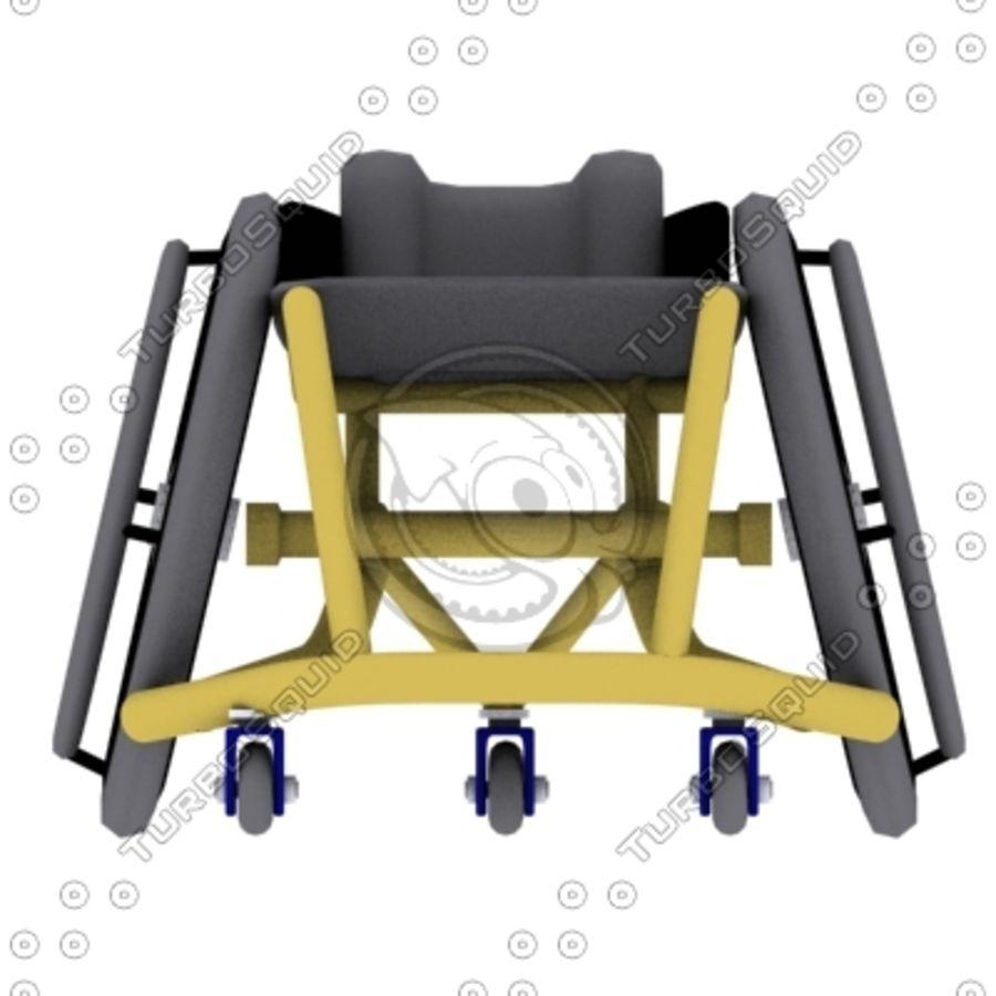 спорт на колясках royalty-free 3d model - Preview no. 3