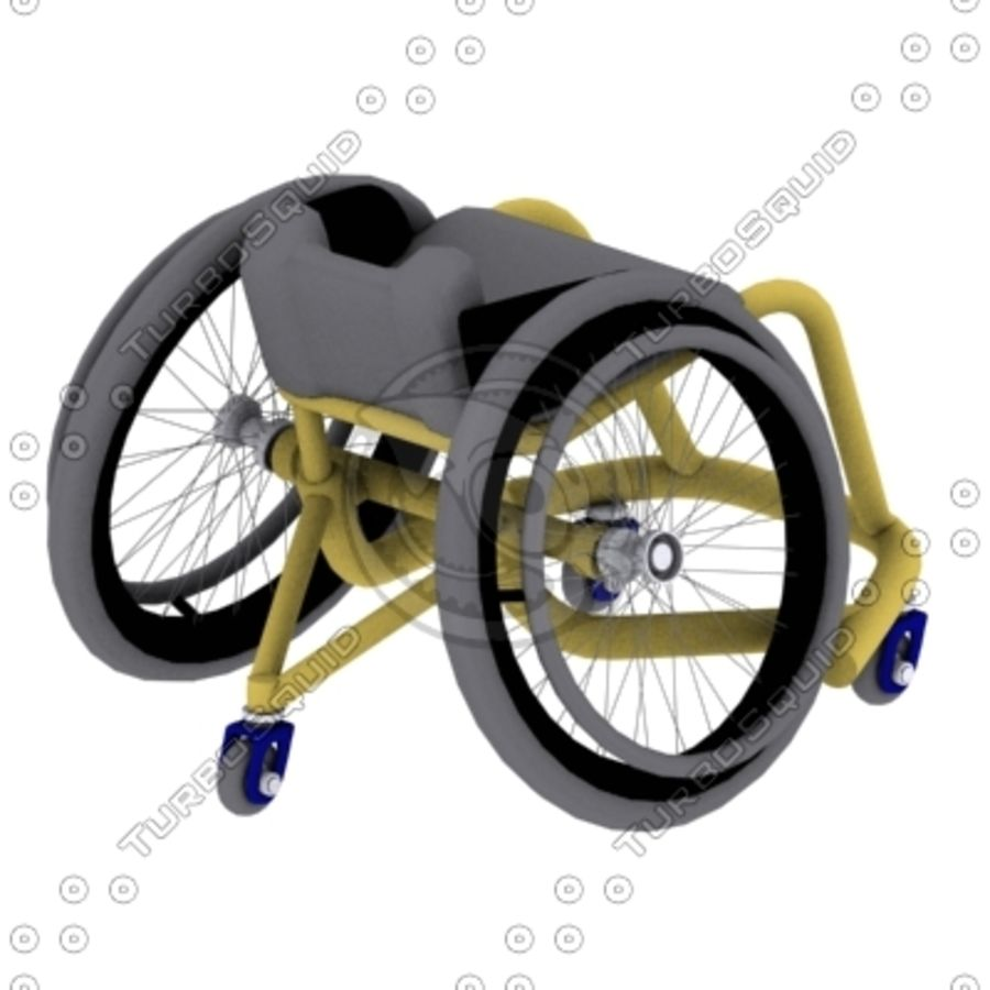 спорт на колясках royalty-free 3d model - Preview no. 5