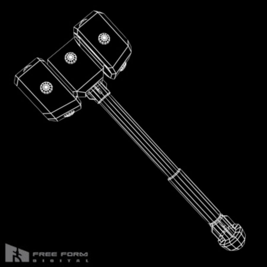 War Hammer royalty-free 3d model - Preview no. 5