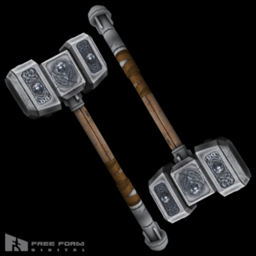 War Hammer royalty-free 3d model - Preview no. 1
