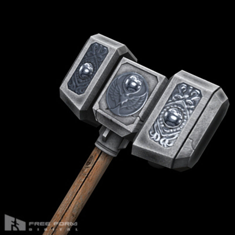 War Hammer royalty-free 3d model - Preview no. 2