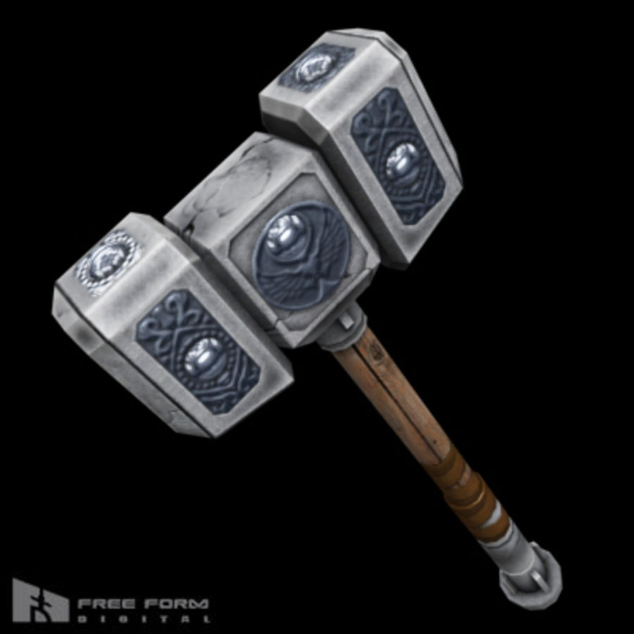 War Hammer royalty-free 3d model - Preview no. 4