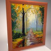 Picture Frames with impressionist paintings 3d model