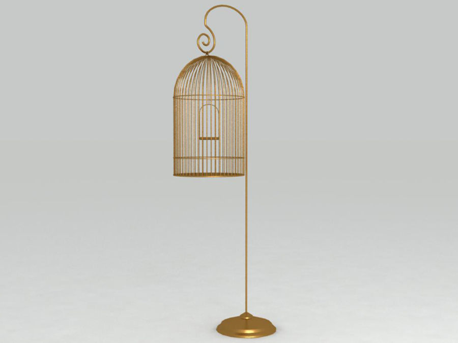 Bird cage royalty-free 3d model - Preview no. 3