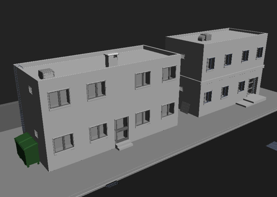 Calle de la ciudad n01 royalty-free modelo 3d - Preview no. 13