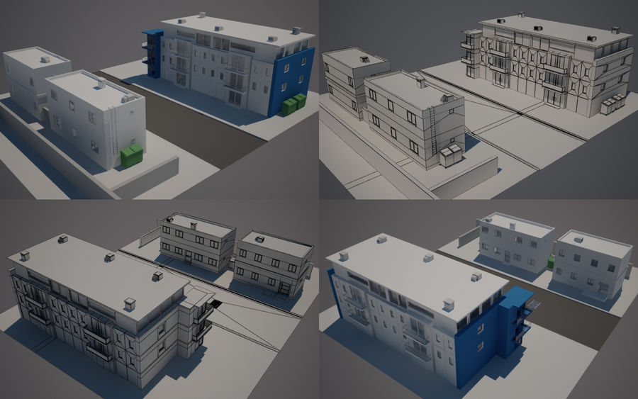 Calle de la ciudad n01 royalty-free modelo 3d - Preview no. 1