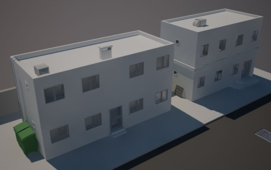 Calle de la ciudad n01 royalty-free modelo 3d - Preview no. 4