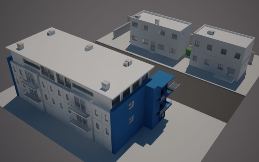 Calle de la ciudad n01 royalty-free modelo 3d - Preview no. 3