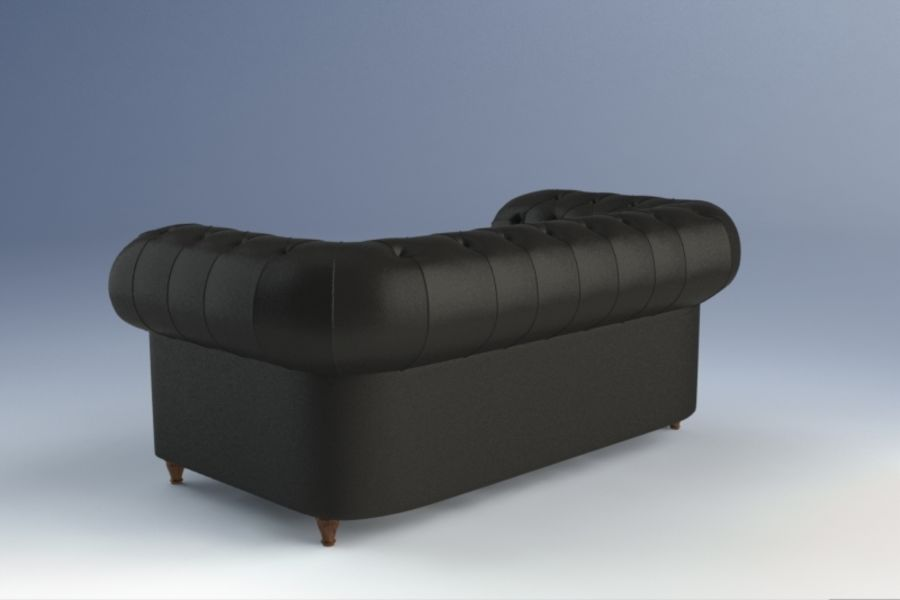 Poltrona Frau Chester Sofa royalty-free 3d model - Preview no. 4