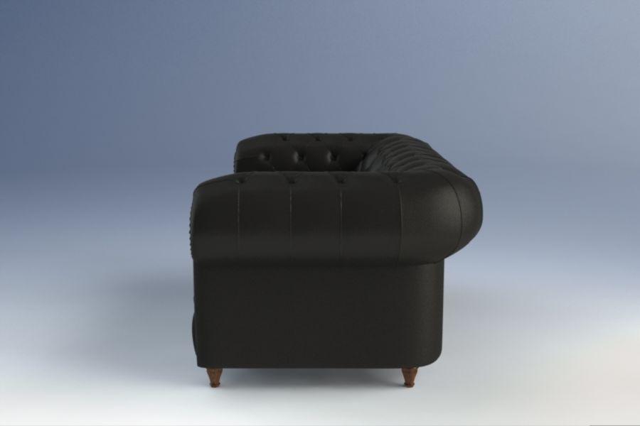 Poltrona Frau Chester Sofa royalty-free 3d model - Preview no. 3
