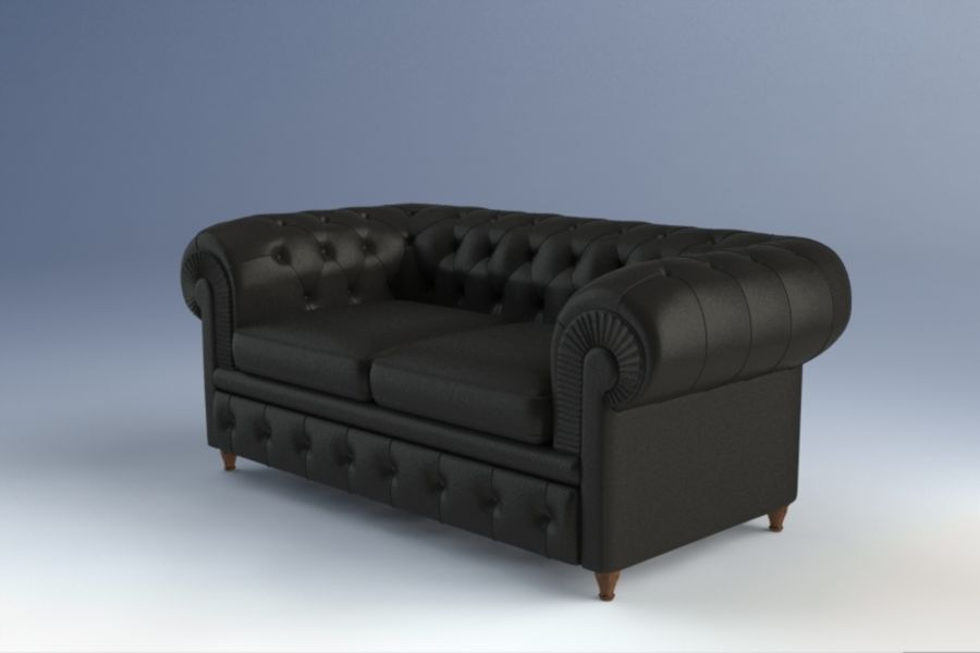 Poltrona Frau Chester Sofa royalty-free 3d model - Preview no. 2