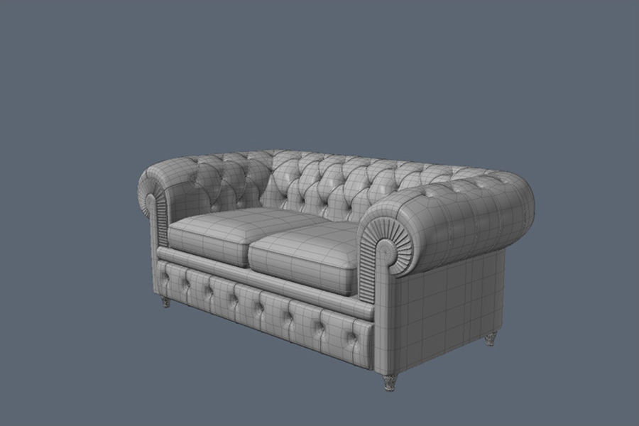 Poltrona Frau Chester Sofa royalty-free 3d model - Preview no. 5