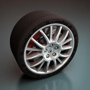 Maserati Wheel - Rim and Tire 3d model