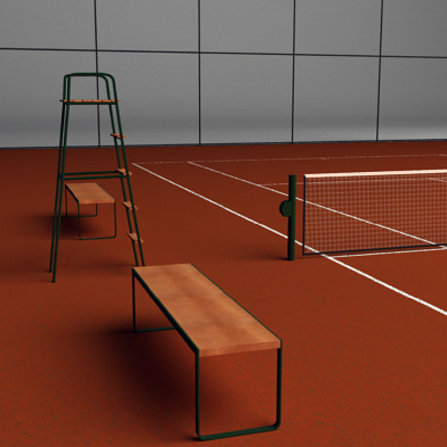Tennis courts collection royalty-free 3d model - Preview no. 9