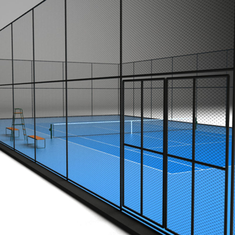 Tennis courts collection royalty-free 3d model - Preview no. 4