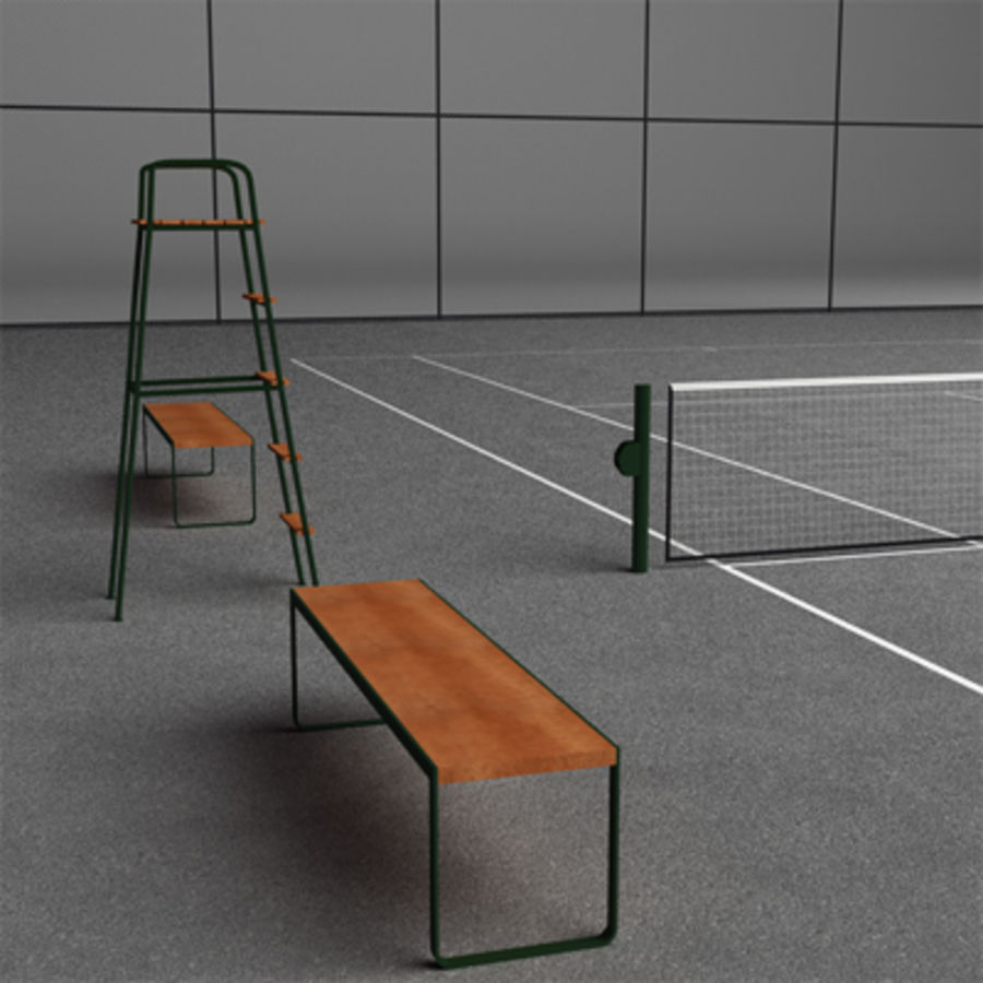 Tennis courts collection royalty-free 3d model - Preview no. 13