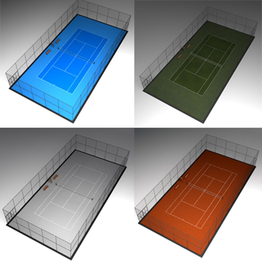 Tennis courts collection royalty-free 3d model - Preview no. 1