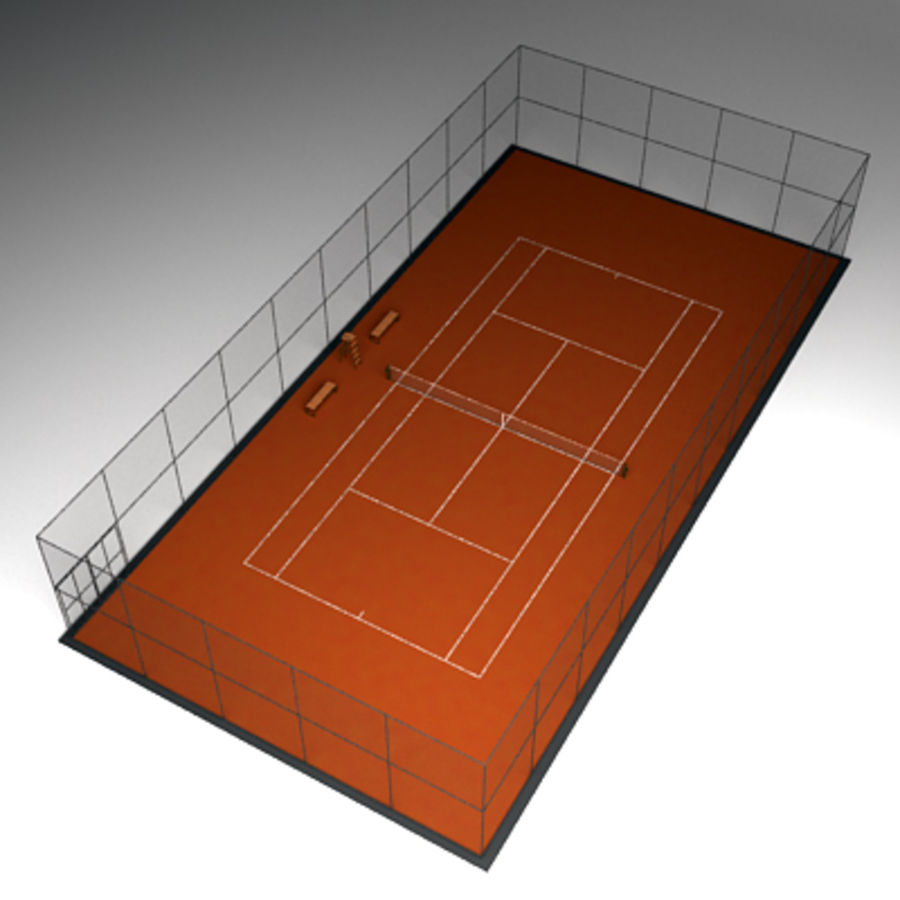 Tennis courts collection royalty-free 3d model - Preview no. 8