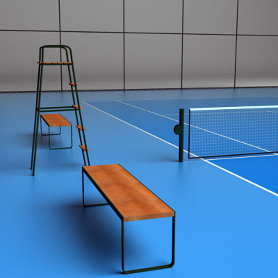 Tennis courts collection royalty-free 3d model - Preview no. 3